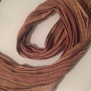 Woven scarf from South America.
